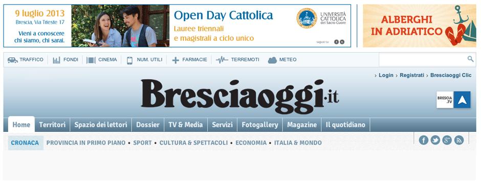 regesta su Bresciaoggi