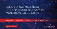 Locandina per i social media riportante il webinar di EPI-USE Labs su come copiare dati SAP
