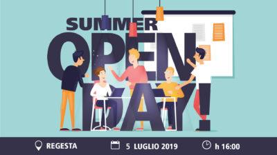 Locandina Summer Open Day 2019 organizzata da Regesta